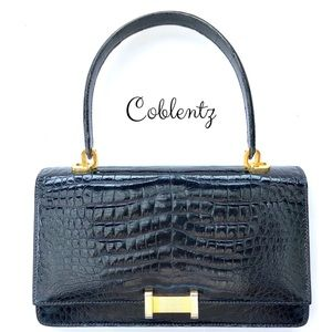 Coblentz Bags - SOLD! Coblentz Women Black Alligator Handbag Purse